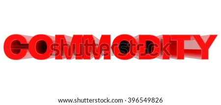 COMMODITY word on white background 3d rendering - stock photo