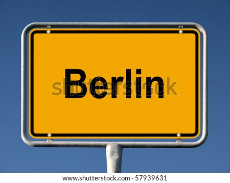 Common city sign of Berlin, Germany - stock photo