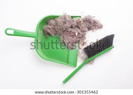 Common house dust on a floor - stock photo