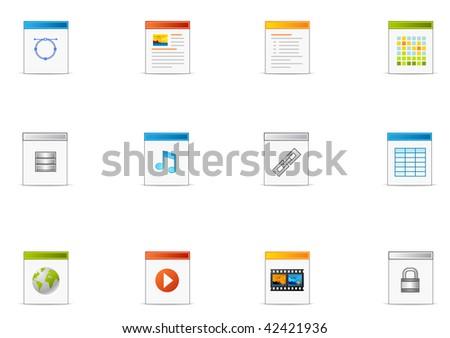 Commonly used  Filetype icon. Pixio set #19 - stock photo