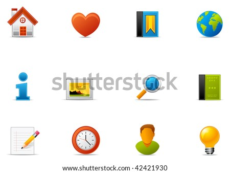 Commonly used Website and Internet blogging icons. Pixio set #1 - stock photo