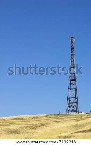 commucation mast - stock photo