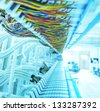 communication and internet network server - stock photo