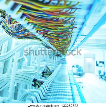 communication and internet network server - stock photo