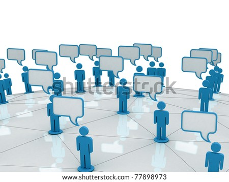 Communication And Social Network - stock photo