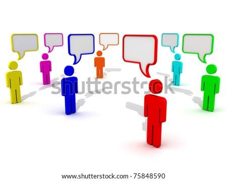 Communication And Speech Bubbles - stock photo