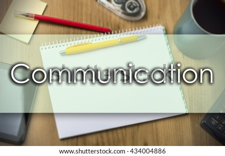 Communication - business concept with text - horizontal image - stock photo