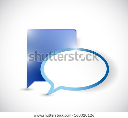 communication concept illustration design over a white background - stock photo