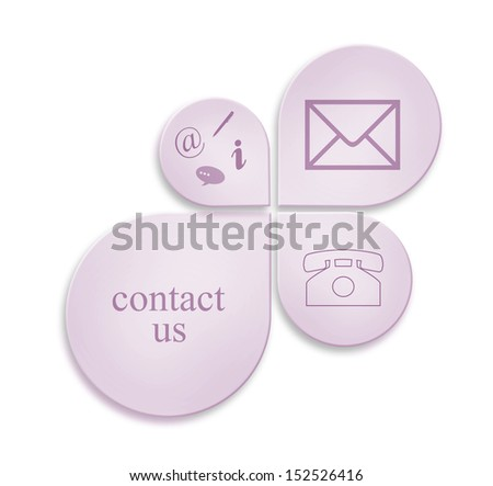 communication contact signs for business - stock photo