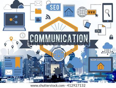 Communication Conversation Talking Connection Concept - stock photo