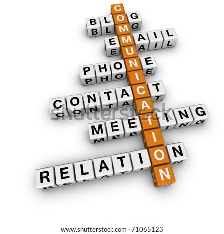 communication crossword - stock photo