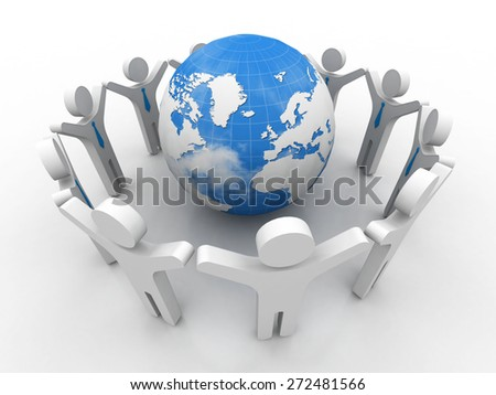Communication. 3D. Business Network - stock photo
