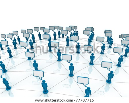 Communication Network - stock photo