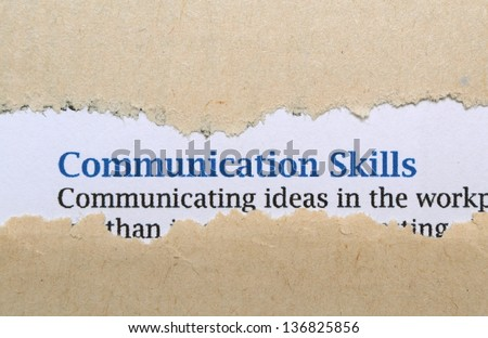 Communication skills - stock photo