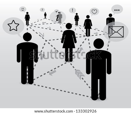 communication. social network. abstract concept.(vector version also available in my gallery) - stock photo