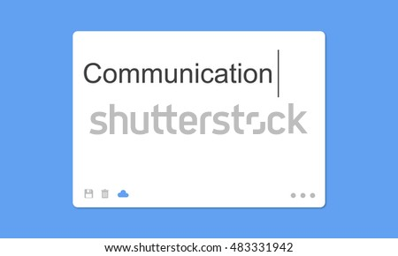 Communication Social Network SMS Window Concept