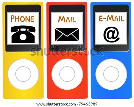 communication way - stock photo
