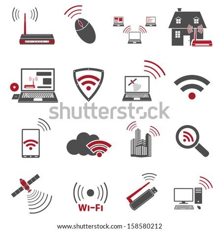Communication web icons - stock photo
