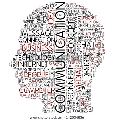 COMMUNICATION | Word Art - stock photo