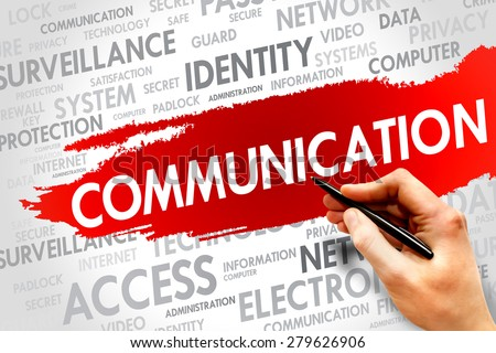 COMMUNICATION word cloud, security concept - stock photo
