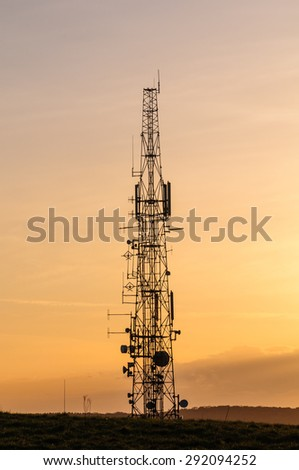Communications Mast at Sunset