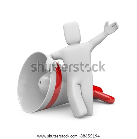 Communicaton metaphor. Image contain clipping path - stock photo