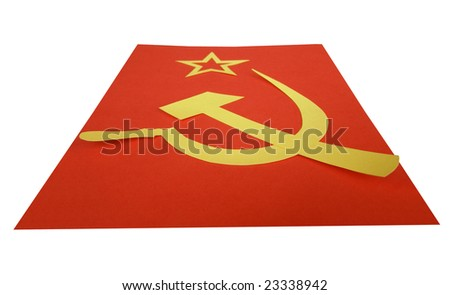 Communist Cccp Flag Hammer Sickle Symbols Stock Photo Royalty Free