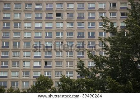 communist way of living in East Berlin - stock photo