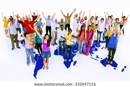 Community Friendship Global Communication Unity Concept - stock photo