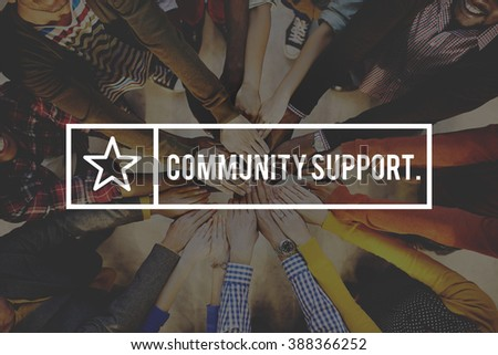 Community Support Connection Togetherness Society Concept - stock photo