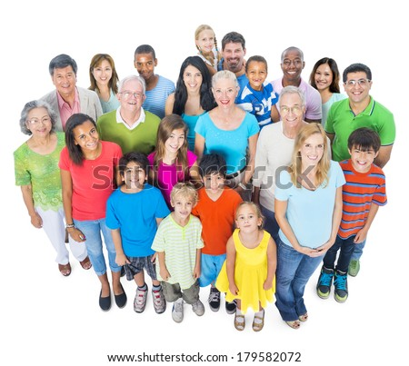 Community with Diverse and Multi-ethnic People - stock photo