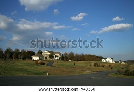 Community with Sunny Skies - stock photo