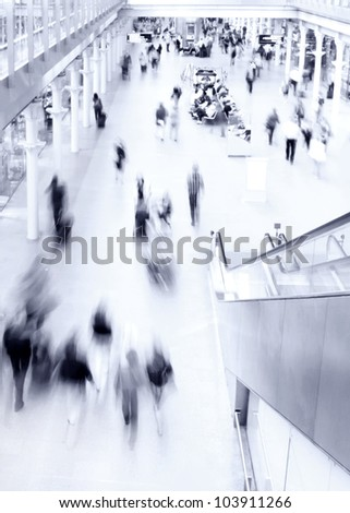 Commuters and shoppers - stock photo