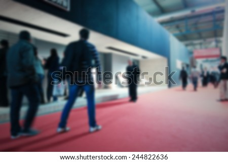 Commuters background. Intentionally blurred post production. - stock photo