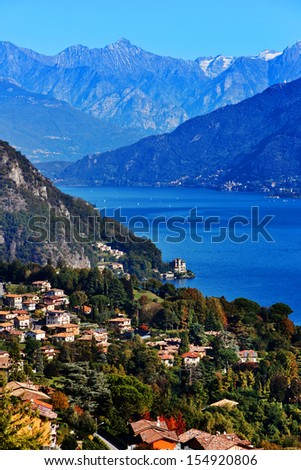 Como north lake of Italy