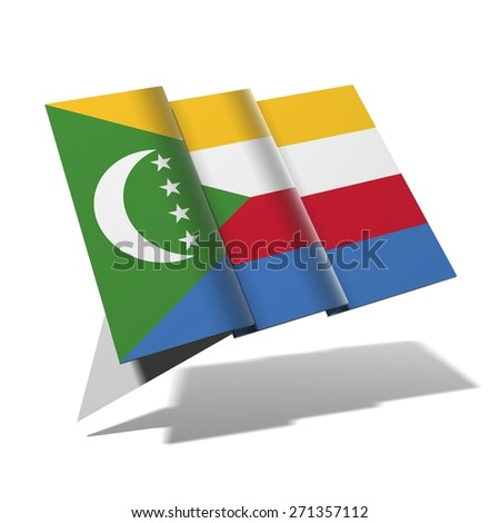 Comoras flag 3D banner - stock photo