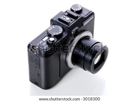 Compact camera from top side view