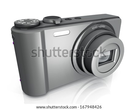 compact  camera on a white background
