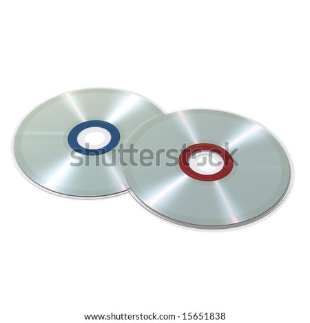 Compact disc - blend and gradient on white background