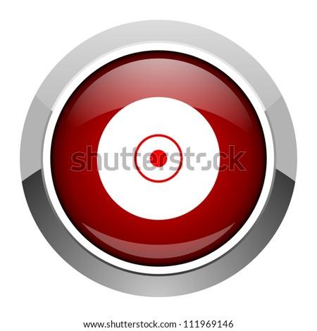 compact disc icon - stock photo