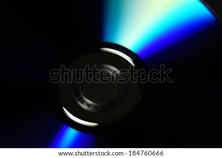 compact disc isolated on black background  - stock photo