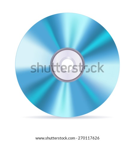 Compact disc. Isolated on white background. Raster version - stock photo