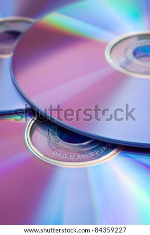 Compact discs (color toned image) - stock photo
