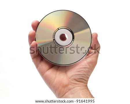Compact disk - stock photo