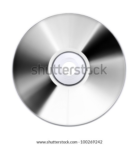 compact disk, isolated on white - stock photo
