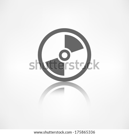 Compact disk web icon,flat design - stock photo