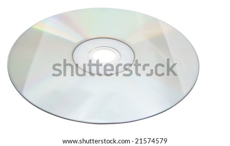 Compact disks isolated on white backgrouond