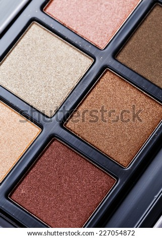 Compact eyeshadow palette  - stock photo