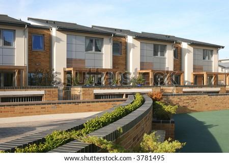 Compact Modern Housing - stock photo