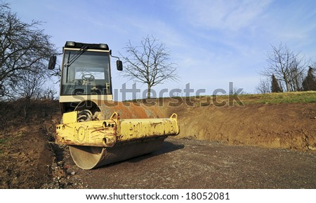 compactor construction vehicle